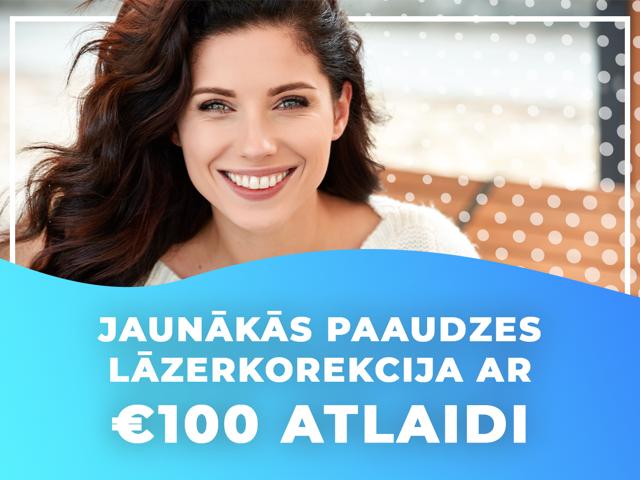 100 EUR atlaide redzes lāzerkorekcijai