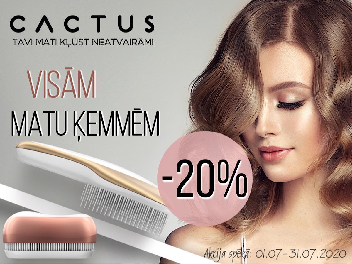 Cactus - visām matu ķemmēm -20% atlaide