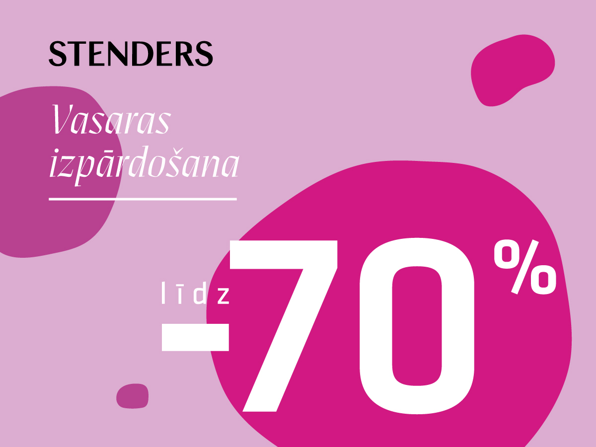 Iegādājies savus iecienītos STENDERS produktus par līdz pat 70% izdevīgāk!