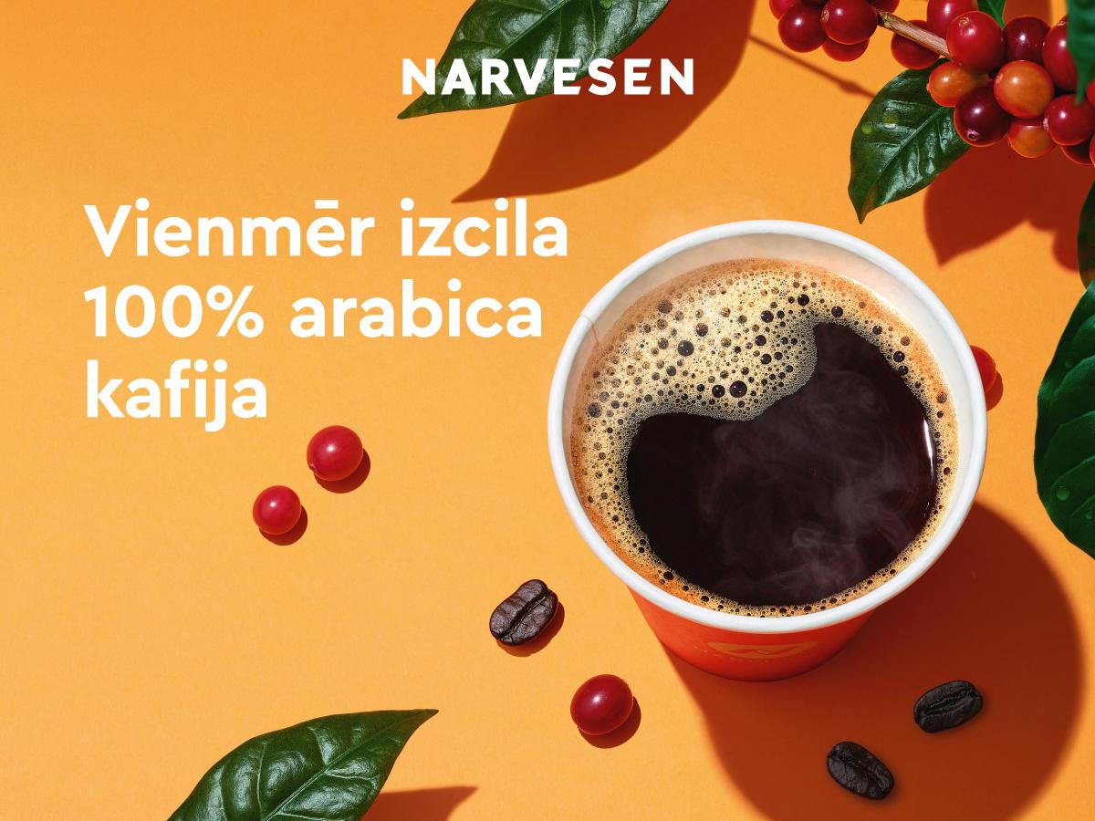 Narvesen kafija – vienmēr izcila 100% Arabica kafija