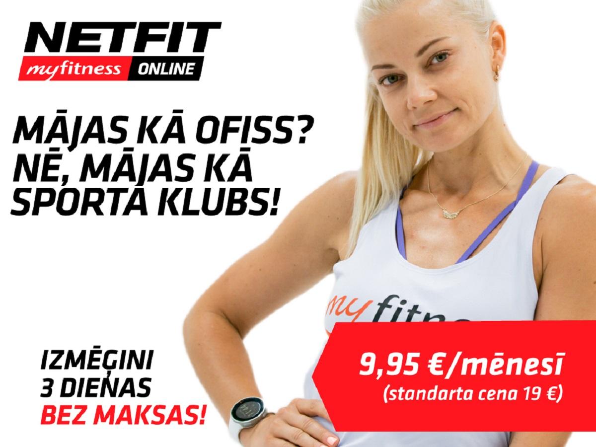 NETFIT tikai 9.95 € mēnesī