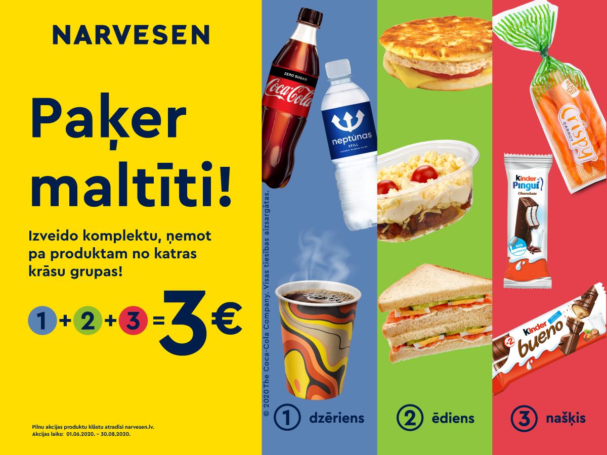 Paķer maltīti par 3 Eur!