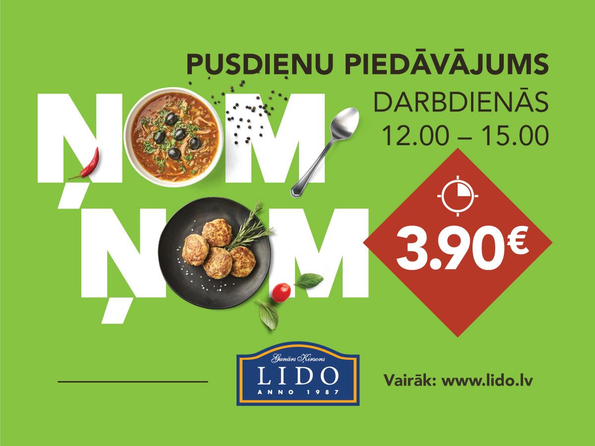 Pusdienu piedāvājums – 3.90 EUR