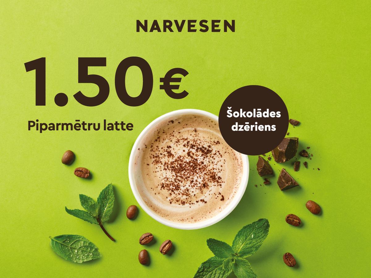 Tagad garšīgā Piparmētru latte maksā tikai 1.50 EUR