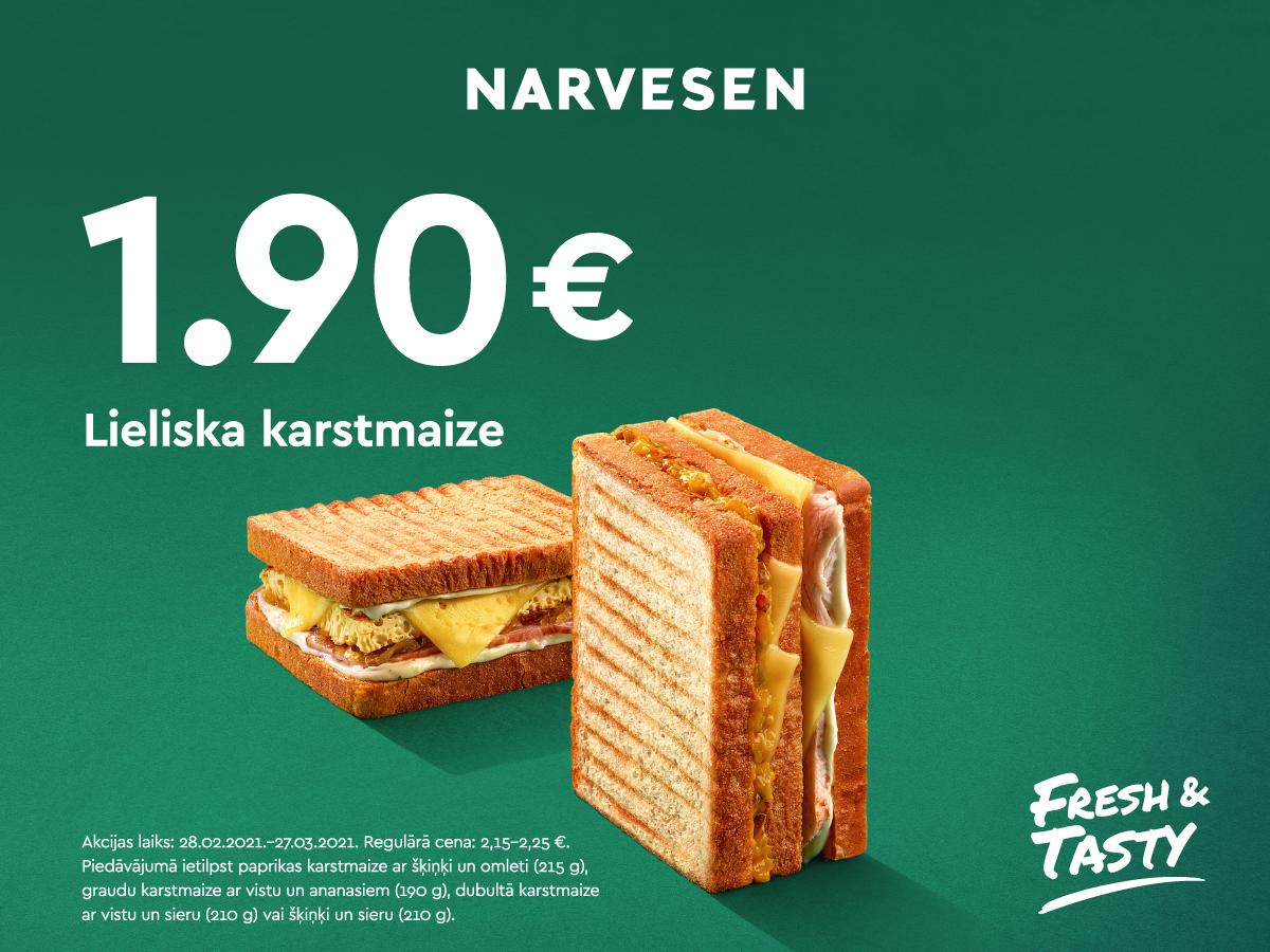 Tagad lieliska karstmaize tikai par 1,90 EUR!