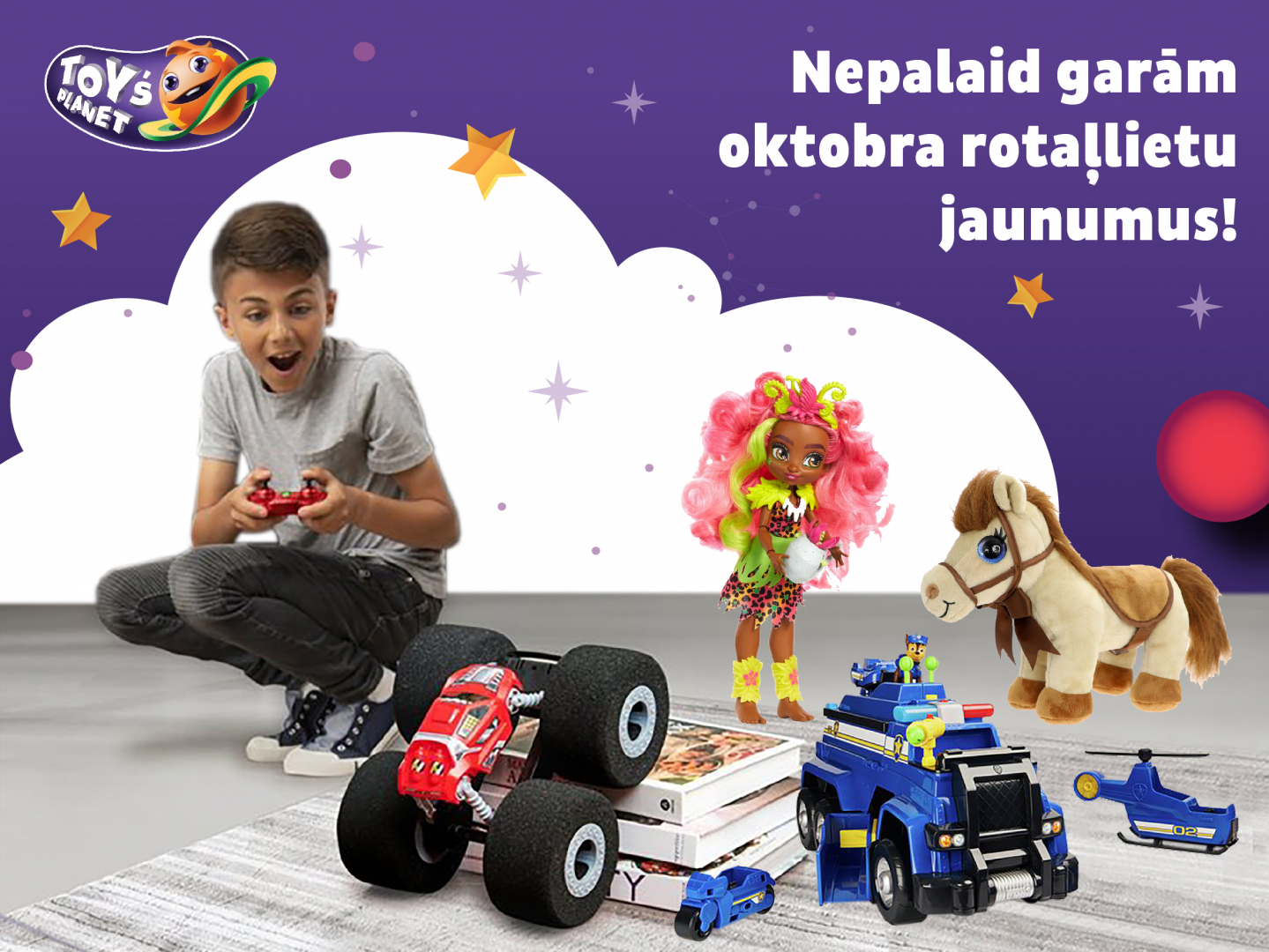 Toy`s Planet oktobra rotaļlietu jaunumi