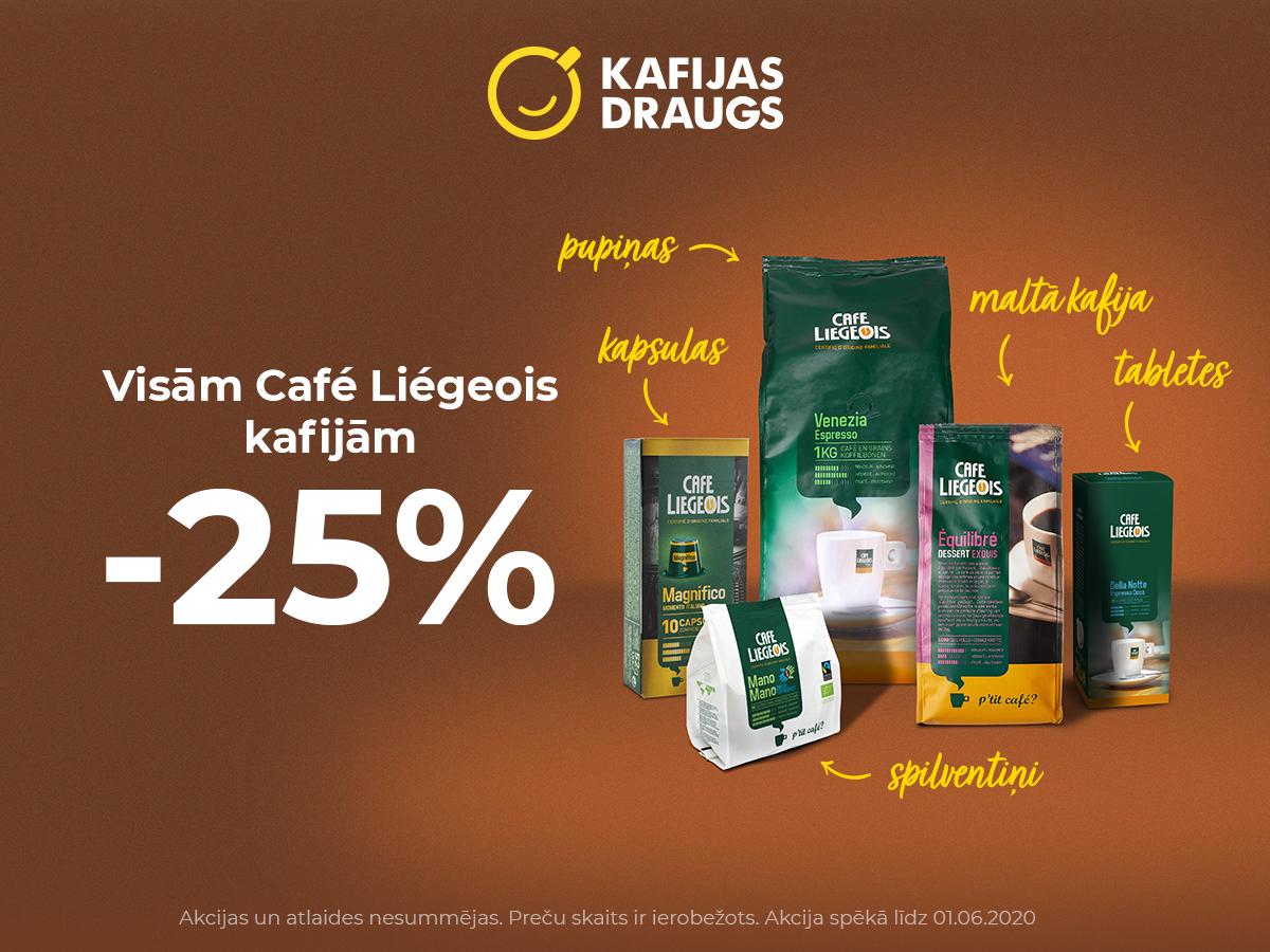 Visām Café Liégeois kafijām  -25%