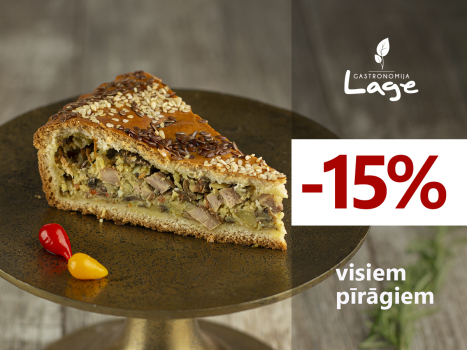 -15% visiem  pīrāgiem