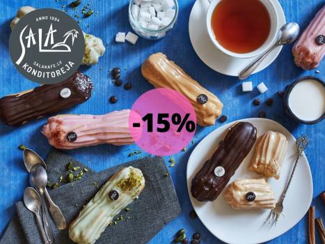 -15% VISIEM EKLĒRIEM