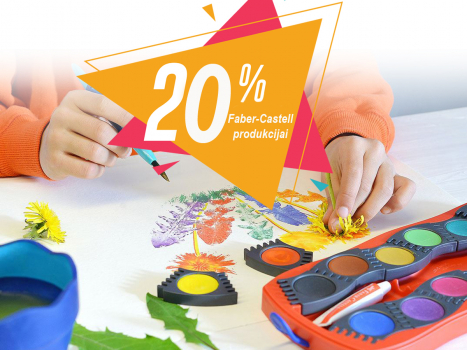 20% atlaide Faber Castell produkcijai