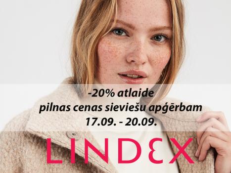 20% atlaide pilnas cenas sieviešu apģērbam