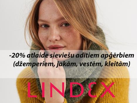 20% atlaide sieviešu adītiem apģērbiem (džemperiem, jakām, vestēm, kleitām)