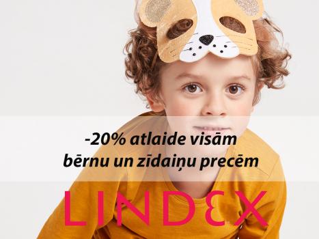 20% atlaide visām bērnu un zīdaiņu precēm