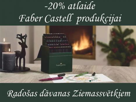 -20% Faber Castell produkcijai