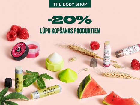 -20% lūpu kopšanas produktiem