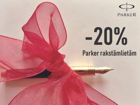 -20% Parker rakstāmlietām