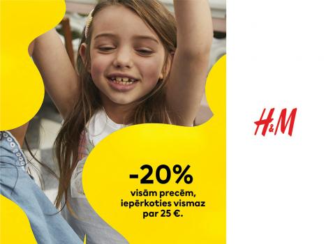 -20% visām bērnu nodaļas precēm, iepērkoties vismaz par 25€
