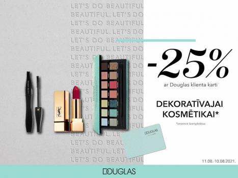 25% atlaide visiem make-up produktiem