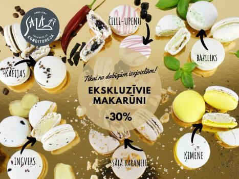 -30 % EKSKLUZĪVO MAKARŪNU IZLASEI
