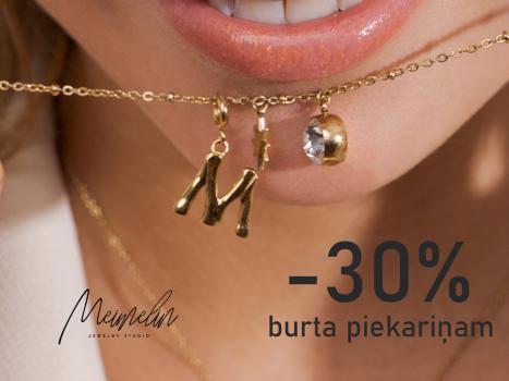 -30% burtiņiem! 10.50 EUR (15 EUR iepriekš)
