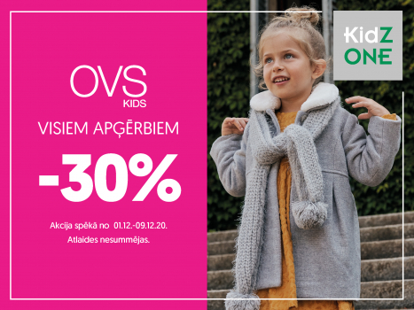 -30% visiem OVS apģērbiem!