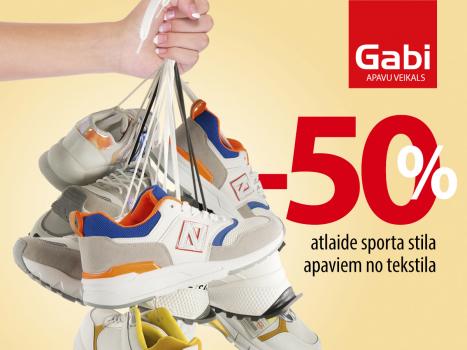 -50% brīvā laika apaviem no tekstila