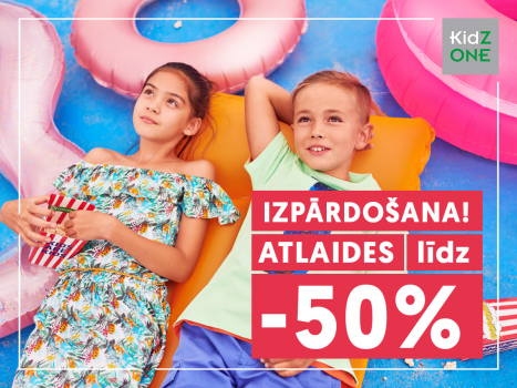 Apģērbu un apavu izpārdošana līdz 50%!