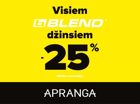 APRANGA I Visiem BLEND vīriešu džinsiem -25%