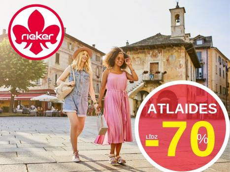 ATLAIDES LĪDZ -70%!
