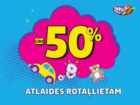 Atlaides rotaļlietām līdz 50%!