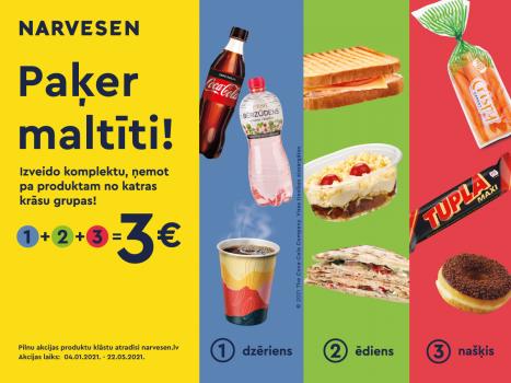 Ātri, garšīgi un pa ceļam! Sakomplektē maltīti par 3 EUR