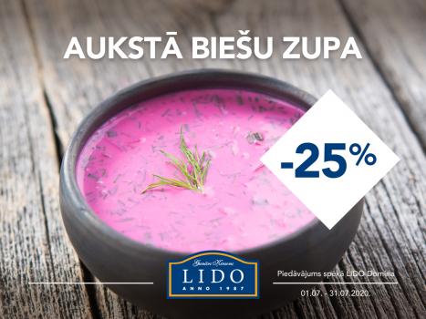 Aukstā biešu zupa - 25%