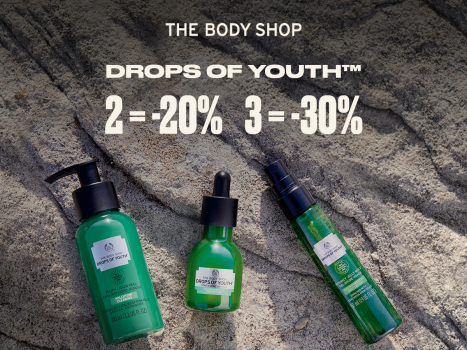 Drops of Youth™ produkti: 2= -20%, 3= -30%