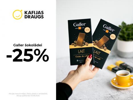 Galler šokolādes kompletiem -25%