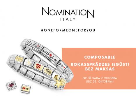 Iegādājies Nomination composable par 35 eiro un saņem dāvanā rokassprādzi