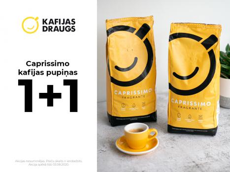 Iegādājieties jebkuru Caprissimo kafiju un iegūstiet otru par brīvu