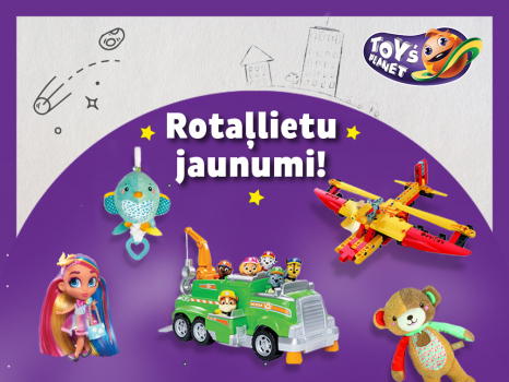 Iepazīsties ar Rotaļlietu jaunumiem Toys Planet veikalos!
