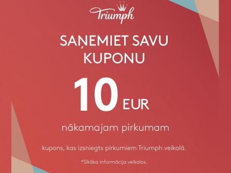 Iepērcies un saņem COME BACK kuponu 10 EUR vērtībā!
