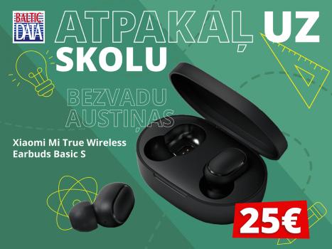 Īpašā augusta cena bezvadu austiņām Xiaomi Mi True Wireless Earbuds Basic S