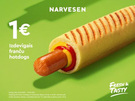 Izdevīgais franču hotdogs tagad maksā tikai 1 EUR!