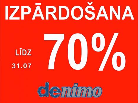 Izpārdošana! Atlaides līdz 70%!