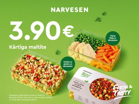 Jaunums: kārtīga maltīte tikai par 3,90 EUR