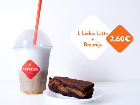 L Ledus Latte + braunijs = 2,60 EUR!