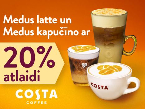 Medus latte un Medus kapučīno ar 20% atlaidi
