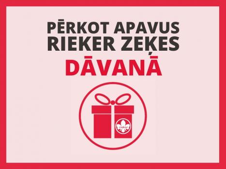 PĒRKOT APAVUS, RIEKER ZEĶES DĀVANĀ