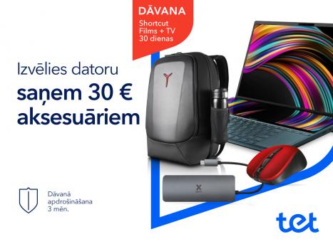 Pērkot datoru, saņem 30 EUR aksesuāriem!