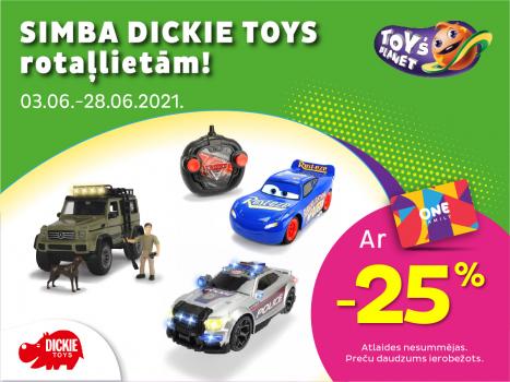 Simba Dickie Toys rotaļlietām -25%!