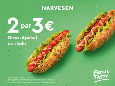 Tagad divi hotdogi tikai par 3 EUR!