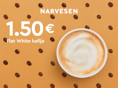 Tagad garšīgā Flat White kafija tikai 1,50 EUR