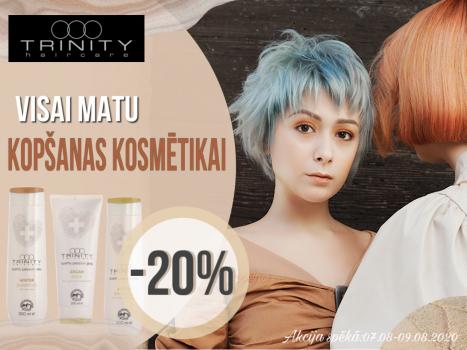 Trinity - Itāļu brenda matu kopšanas un styling  kosmētikai -20% atlaide